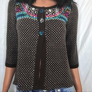 Guinevere by Anthropologie Fair Isle Cardigan